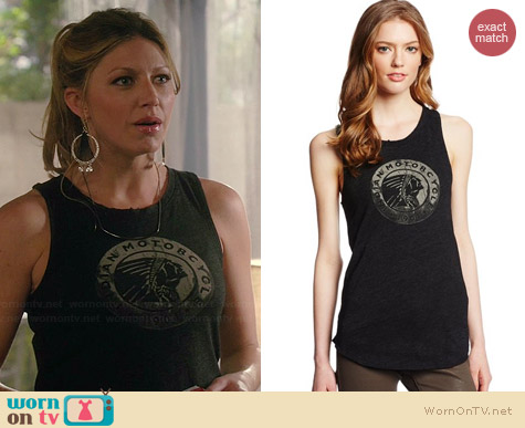 Lucky Brand Indian Circle Tank worn by Jess Macallan on Mistresses