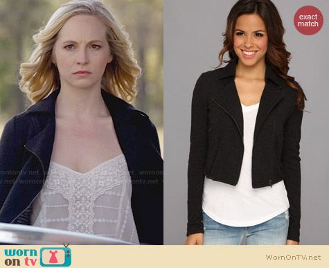 Lucky Brand Moto Jacket worn by Candice Accola on The Vampire Diaries