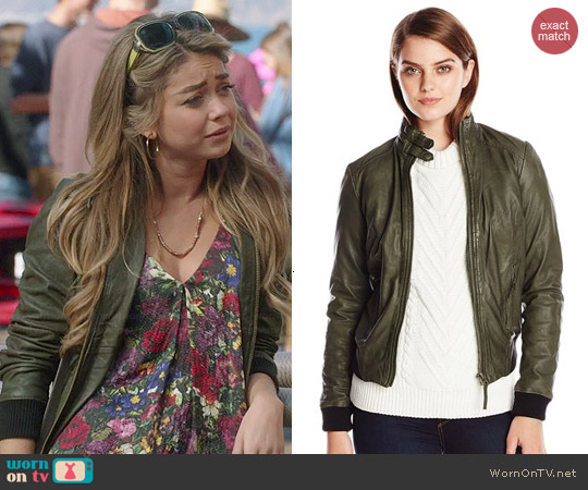 Lucky Brand Olive Bomber Jacket worn by Haley Dunphy on Modern Family