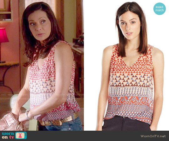Lucky Brand Ombre Geo Tank worn by Constance Marie on Switched at Birth