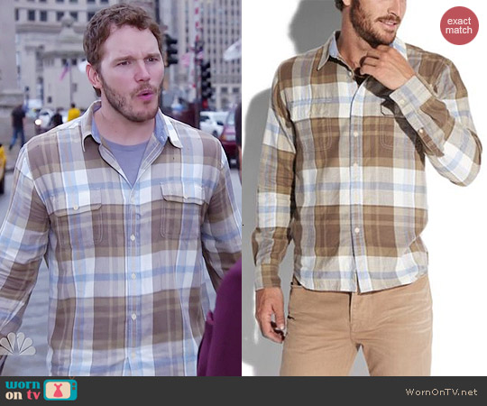 Lucky Brand Triton Workwear Shirt worn by Chris Pratt on Parks & Rec