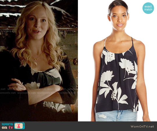Lucky Brand Silk Vines Tank worn by Candice Accola on The Vampire Diaries