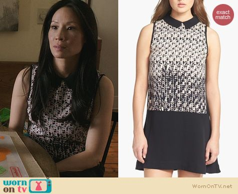 Lucy Liu Fashion: Marc by Marc Jacobs Isa Shift Dress worn on Elementary