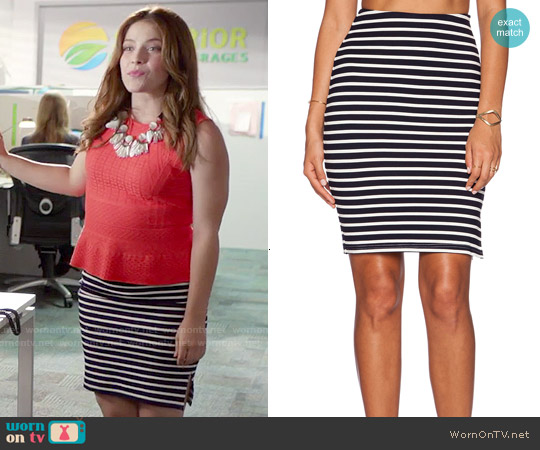 Lucy Paris Catie Pencil Skirt worn by Audrey Pitagorski on Kevin from Work