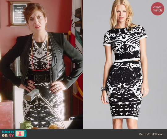 Lucy Paris Intarsia Knit Top & Skirt Set worn by Kate Walsh on Bad Judge