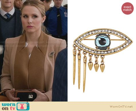 Lulu Frost Icon Pin worn by Kristen Bell on House of Lies