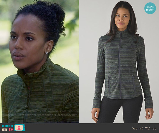 Lululemon Define Jacket in Space Dye Dark Slate worn by Kerry Washington on Scandal