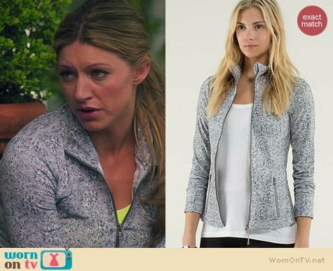 Lululemon Forme Jacket in Fleur worn by Jess Macallan on Mistresses
