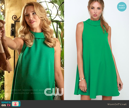 Lulus Mod Maven Green Swing Dress worn by Yael Grobglas on Jane the Virgin