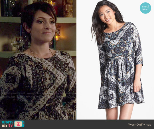 Lush Lace Up Skater Dress worn by Italia Ricci on Chasing Life