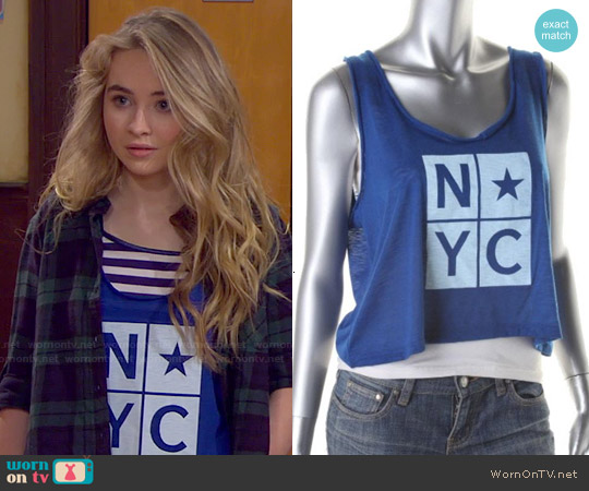 Lust N Must NYC Tank worn by Sabrina Carpenter on Girl Meets World