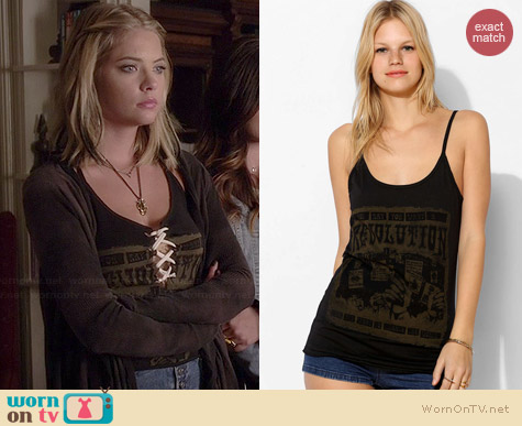 Lyric Culture Revolution Tank Top worn by Ashley Benson on PLL