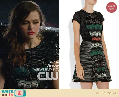 M Missoni Crochet Knit Dress worn by Aimee Teegarden on Star-Crossed