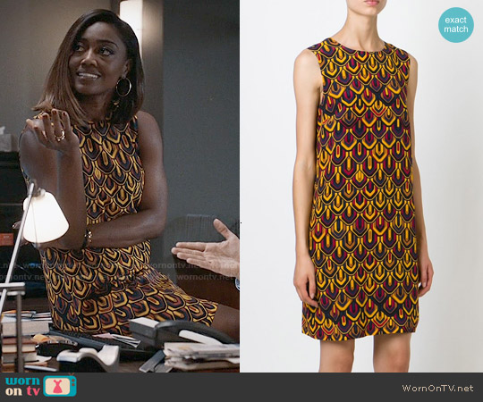 M Missoni Graphic Print Shift Dress worn by Patina Miller on Madam Secretary