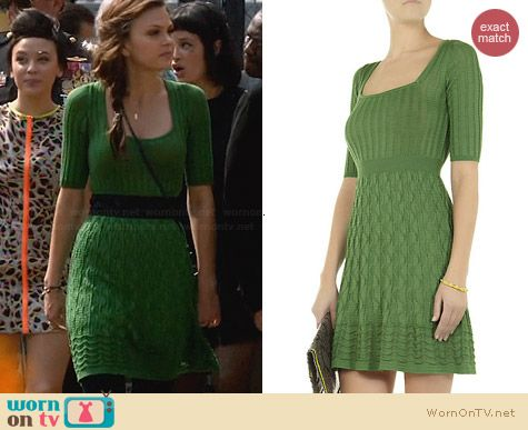 M Missoni Green Knit Dress worn by Aimee Teegarden on Star-Crossed