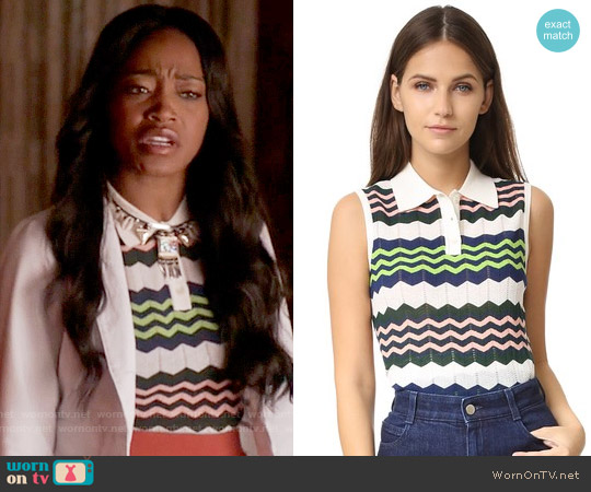 M Missoni Zig Zag Top worn by Keke Palmer on Scream Queens
