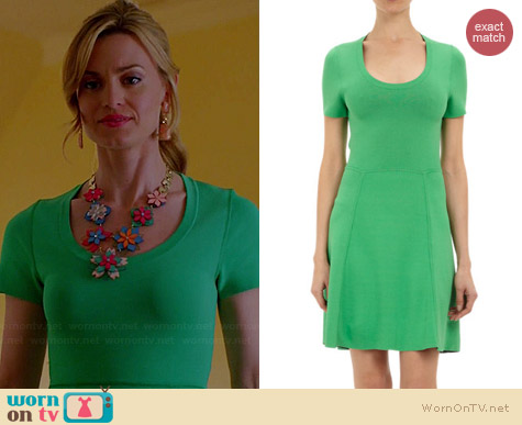 M Patmos Double Face Techno Jersey Scoop Neck Dress worn by Brooke D'Orsay on Royal Pains