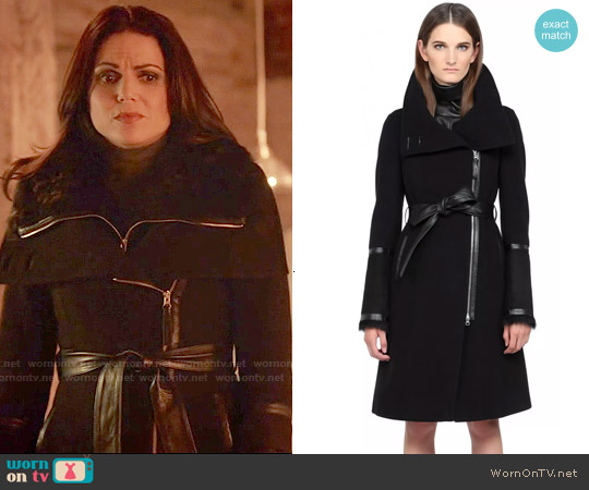 Mackage Isabel Coat worn by Lana Parrilla on OUAT