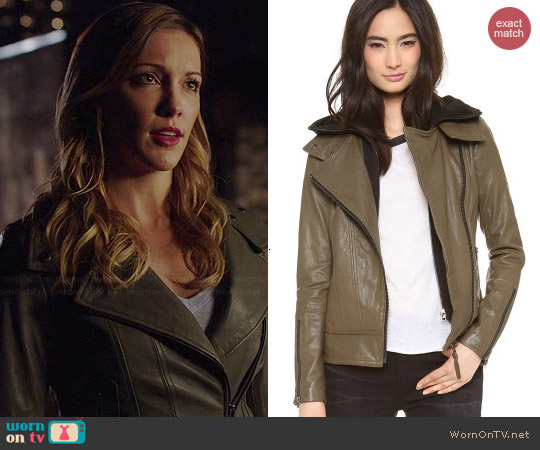 Mackage Kiera Jacket in Khaki worn by Katie Cassidy on Arrow