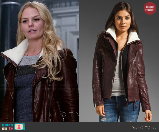 Mackage Veruca Leather Jacket worn by Emma Swan on OUAT