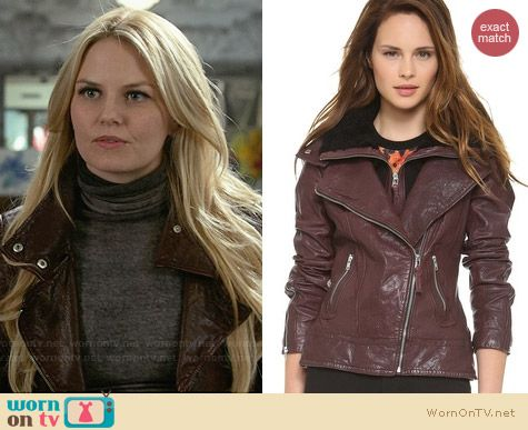 Mackage Veruca Leather Jacket worn by Jennifer Morrison on OUAT
