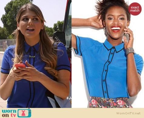 MADE Fashion Week Blouse worn by Molly Tarlov on Awkward