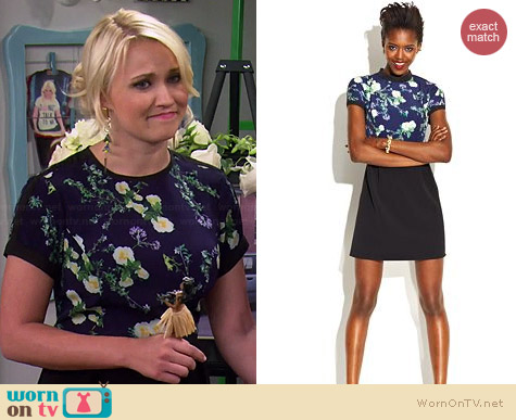 MADE Fashion Week Floral Print Dress worn by Emily Osment on Young & Hungry