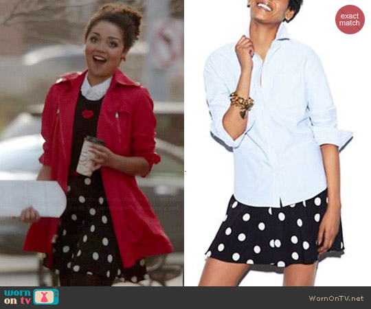 MADE Fashion Week Polka Dot Skirt worn by Beth on Chasing Life