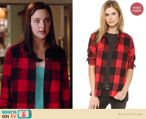 Madewell Buffalo Check Ex Boyfriend Shirt worn by Haley Ramm on Chasing Life