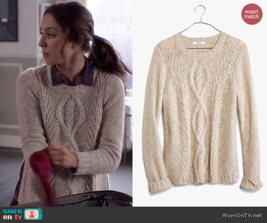 Madewell Firelight Marled Pullover worn by Troian Bellisario on PLL