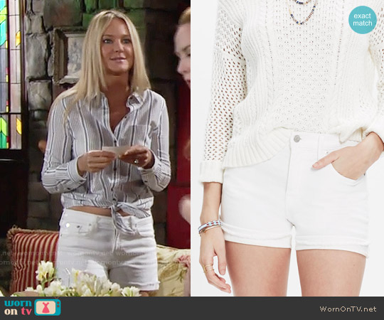 Madewell High Rise Denim Shorts worn by Sharon Collins on The Young & the Restless