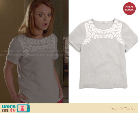 Madewell Ivy Tee worn by Jayma Mays on Glee