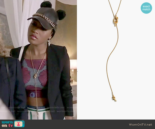 Madewell Knotshine Necklace worn by Keke Palmer on Scream Queens