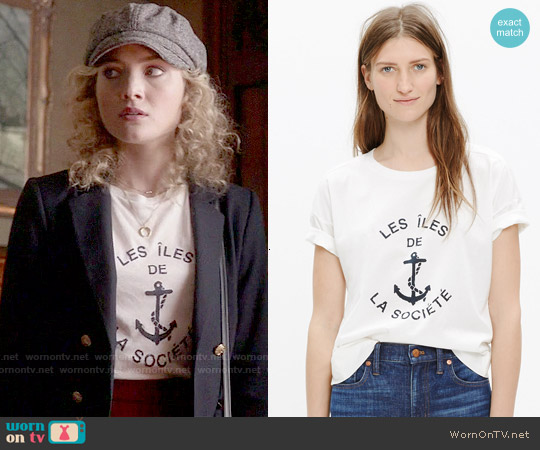 Madewell  les îles de la société Tee worn by Skyler Samuels on Scream Queens
