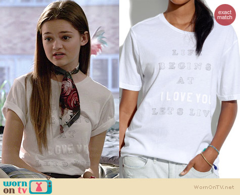 Madewell Let's Live Tee worn by Ciara Bravo on Red Band Society
