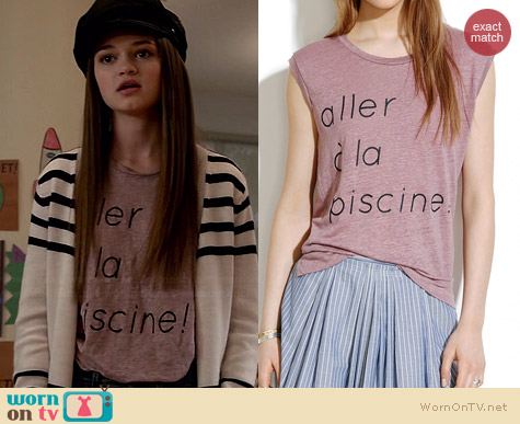 Madewell Linen Piscine Muscle Tee worn by Ciara Bravo on Red Band Society