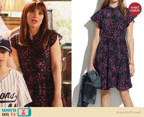 Madewell Silk Dress in Night Orchid worn by Lauren Bittner on Hart of Dixie