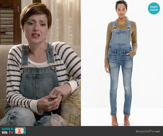 Madewell Skinny Overalls worn by April Carver on Chasing Life