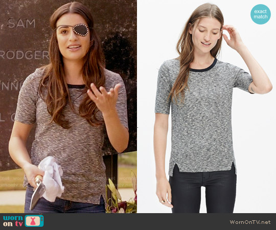 Madewell Soundcheck Ringer Tee worn by Lea Michele on Scream Queens