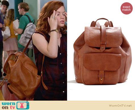 Madewell The Transport Rucksack worn by Tessa Altman on Suburgatory
