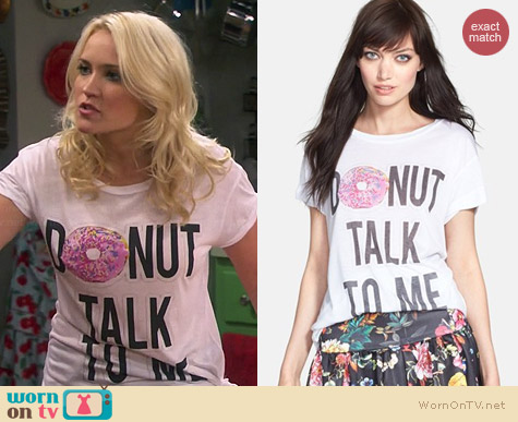 Madison & Berkeley Donut Talk To Me Tee worn by Emily Osment on Young & Hungry