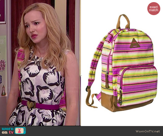 Mad Love Striped Backpack worn by Dove Cameron on Liv & Maddie