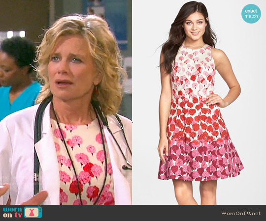 Maggy London Floral Print Fit & Flare Dress worn by Mary Beth Evans on Days of our Lives