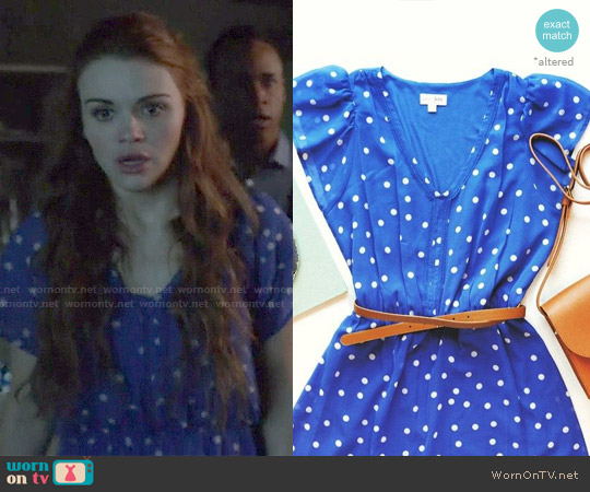 Mason Jules Flutter Sleeve Dot Print Dress worn by Holland Roden on Teen Wolf