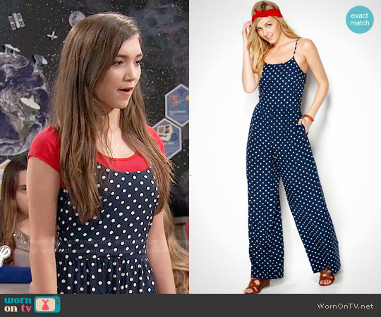 Maison Jules Polka Dot Jumpsuit worn by Rowan Blanchard on Girl Meets World