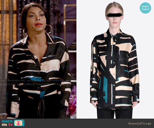 Maison Margiela Printed Masculine Shirt worn by Taraji P. Henson on Empire