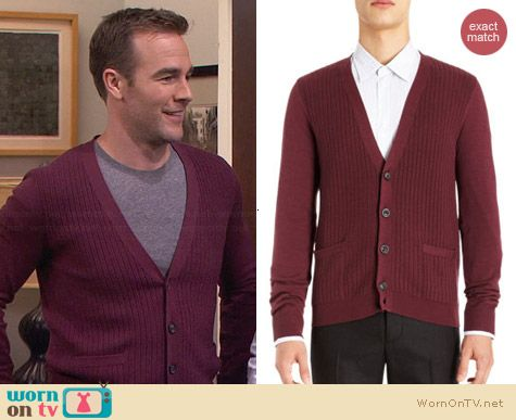 Maison Martin Margiela Textured Cardigan worn by James van der Beek on FWBL
