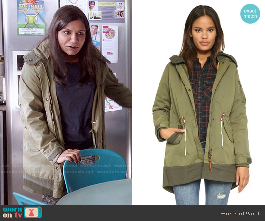 Maison Scotch Bomber Parker worn by Mindy Kaling on The Mindy Project