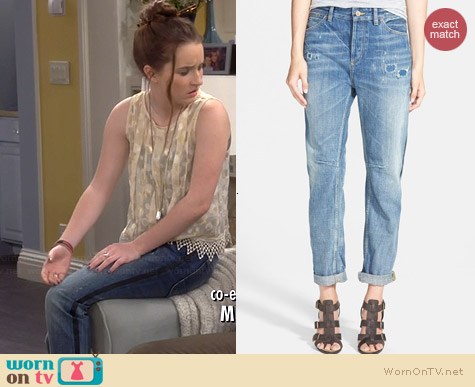 Maison Scotch L'Adorable Repaired Boyfriend Jeans worn by Kaitlyn Dever on Last Man Standing