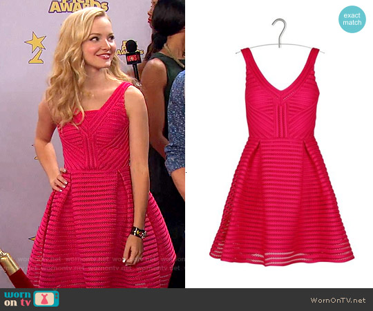Maje Rayure Dress worn by Dove Cameron on Liv & Maddie